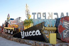 Neon Museum Yucca sign