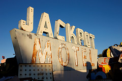 Jackpot Motel sign at Neon Museum