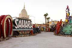 Neon Museum vintage Sahara hotel sign