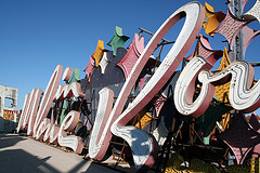 Vintage sign at The Neon Museum