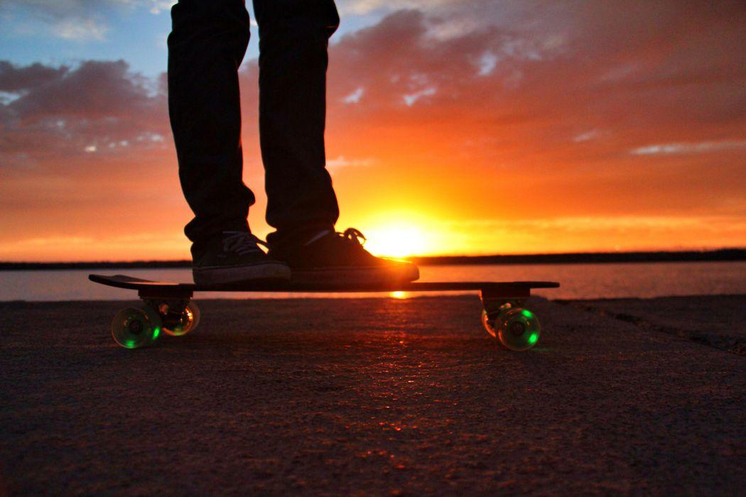 sunset skateboards-branding