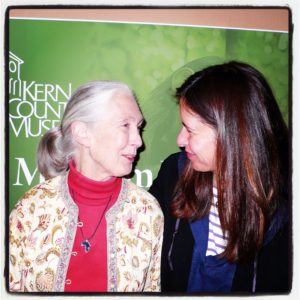Priscilla Woolworth and Dr. Jane Goodall