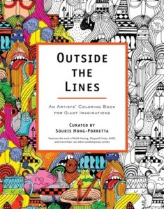 adult coloring book outside the lines