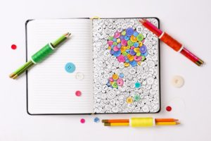 adult coloring book journal