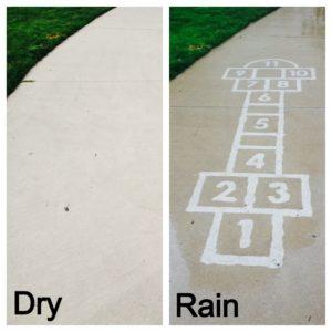 Rainworks rain activated messages
