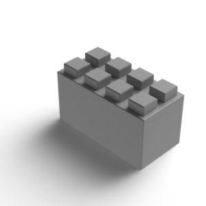 everblock plastic blocks gray