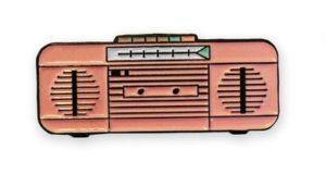 super cute boom box pin