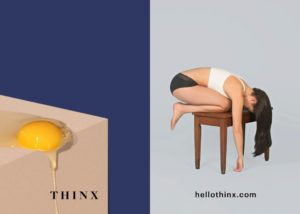thinx period panties ad egg yold