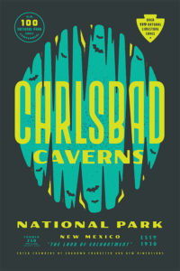 carlsbad caverns graphic poster