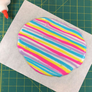 rainbow striped slime trend
